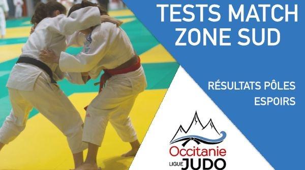 Résultats Tests matchs Zone Sud Cadet.te.s - Samedi 27 Mars